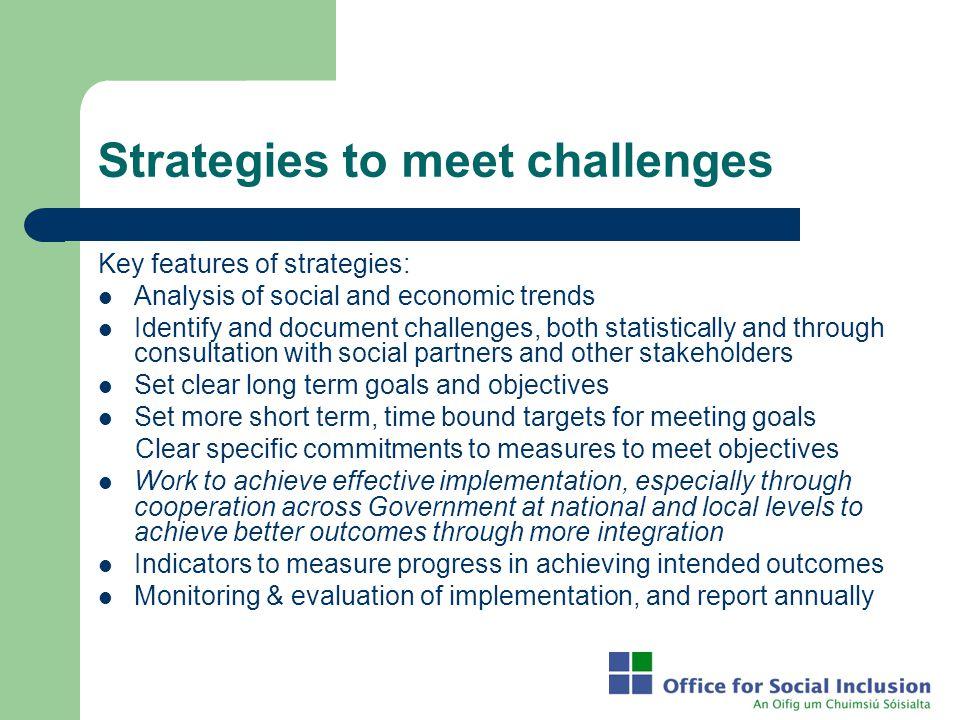 Strategies to meet challenges