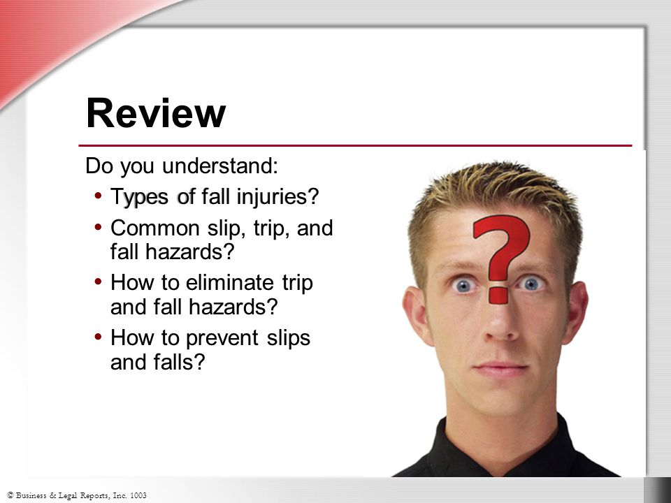 Review Do you understand: Types of fall injuries
