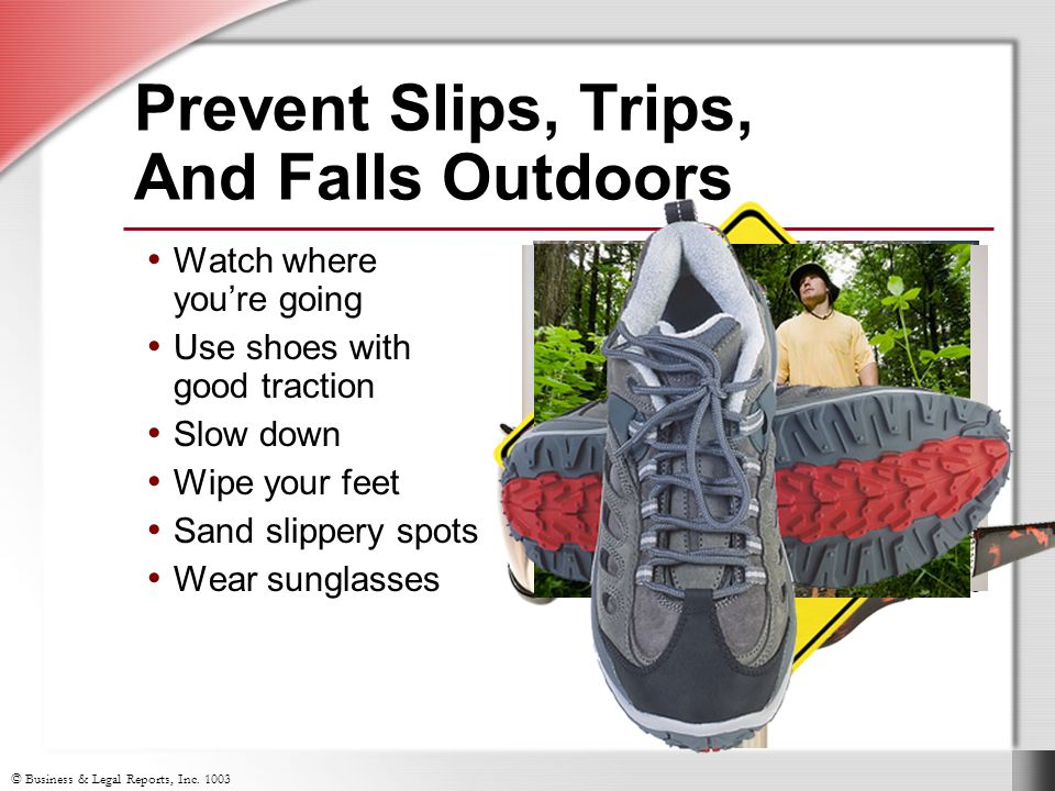 Prevent Slips, Trips, And Falls Outdoors