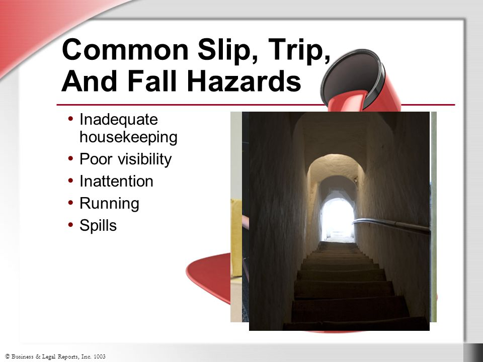 Common Slip, Trip, And Fall Hazards