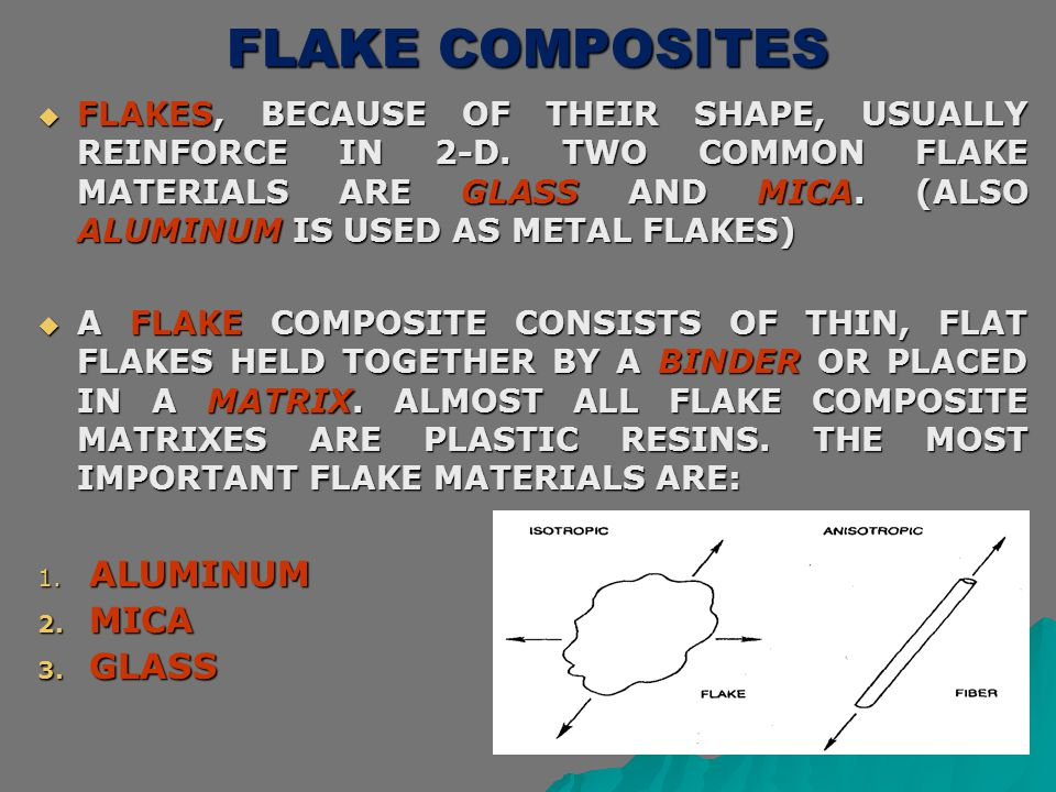 FLAKE COMPOSITES ALUMINUM MICA GLASS