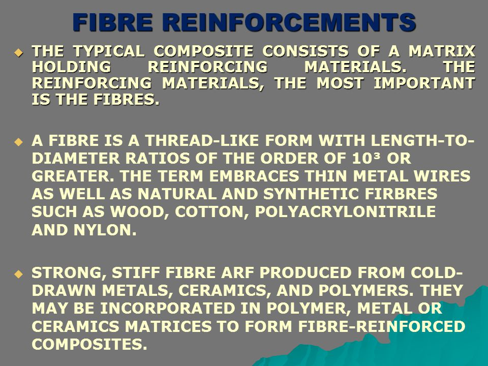 FIBRE REINFORCEMENTS
