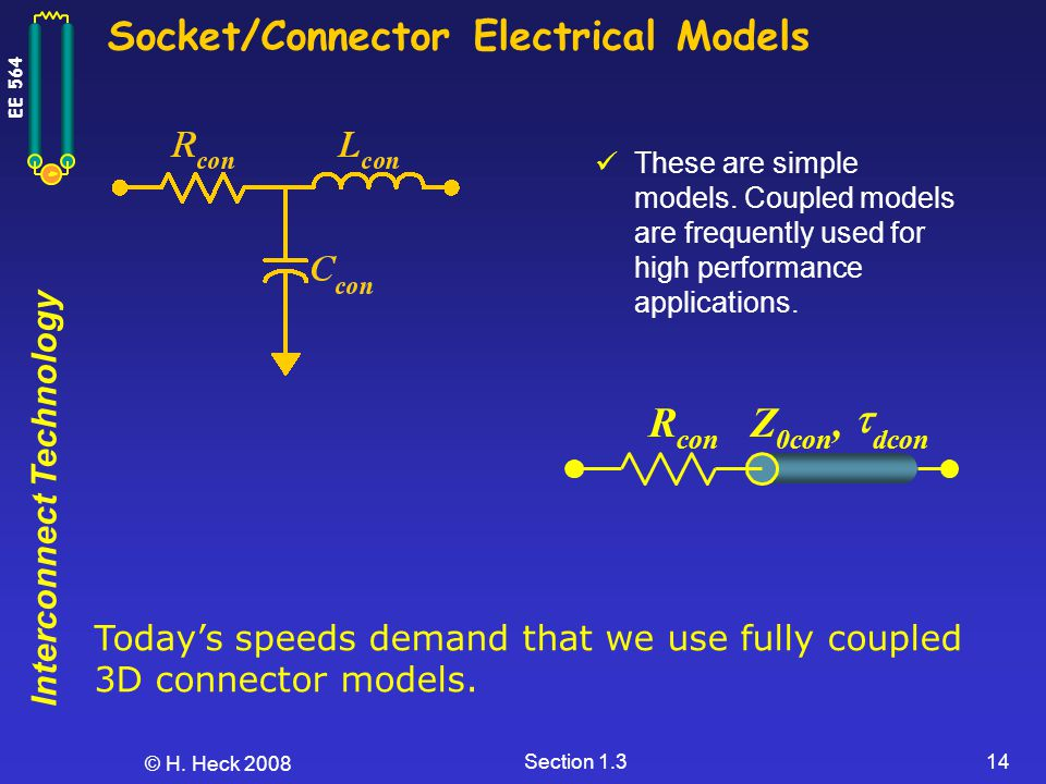 Socket/Connector Electrical Models
