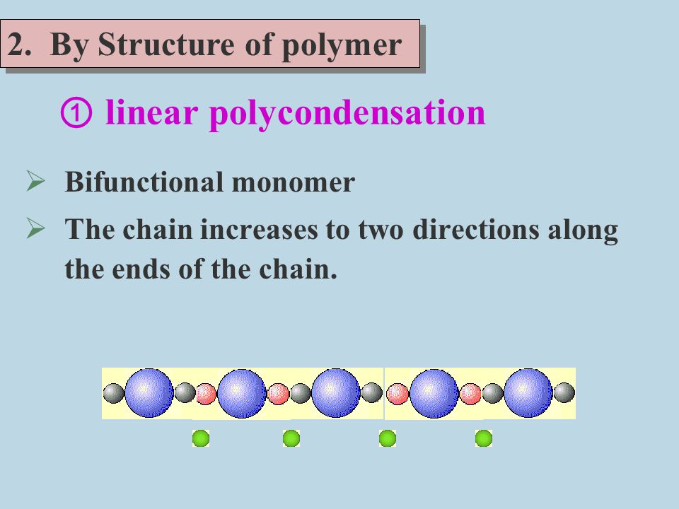 ① linear polycondensation