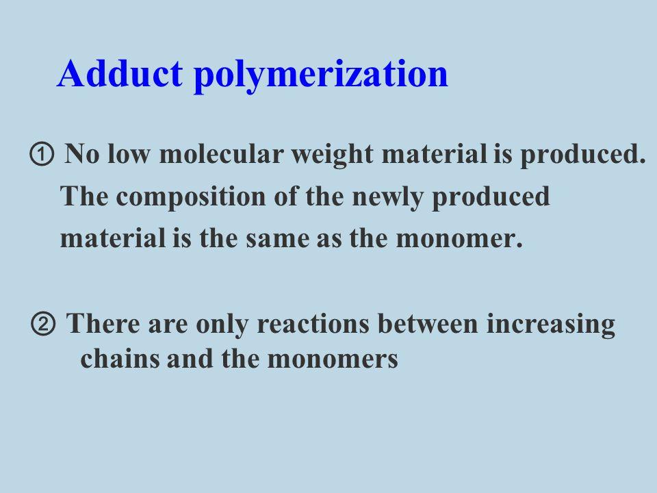 Adduct polymerization