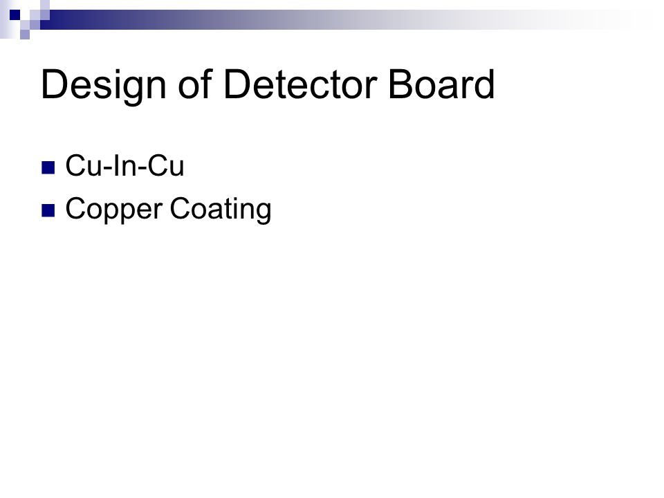 Design of Detector Board