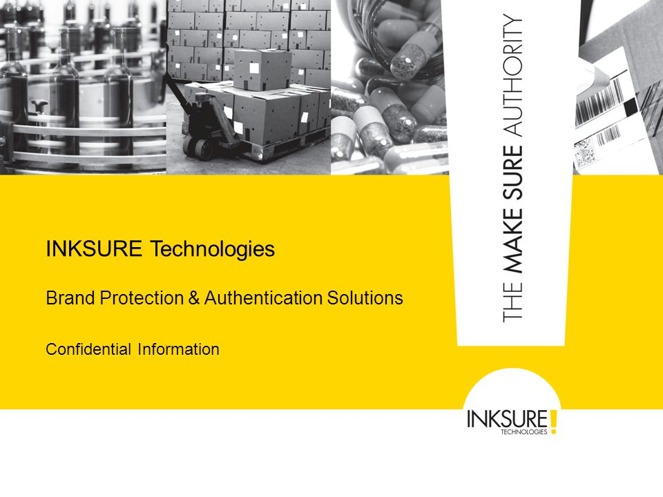 Brand Protection & Authentication Solutions Confidential Information