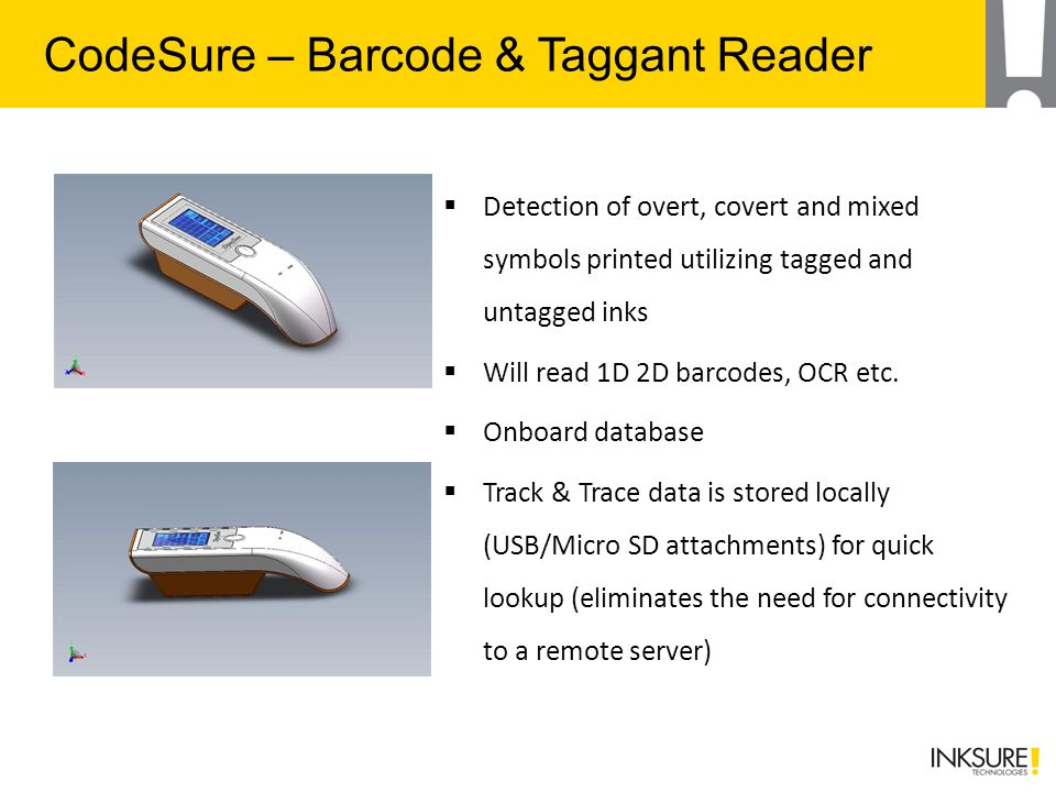 CodeSure – Barcode & Taggant Reader