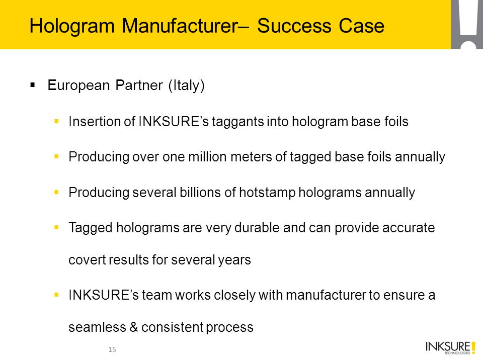 Hologram Manufacturer– Success Case