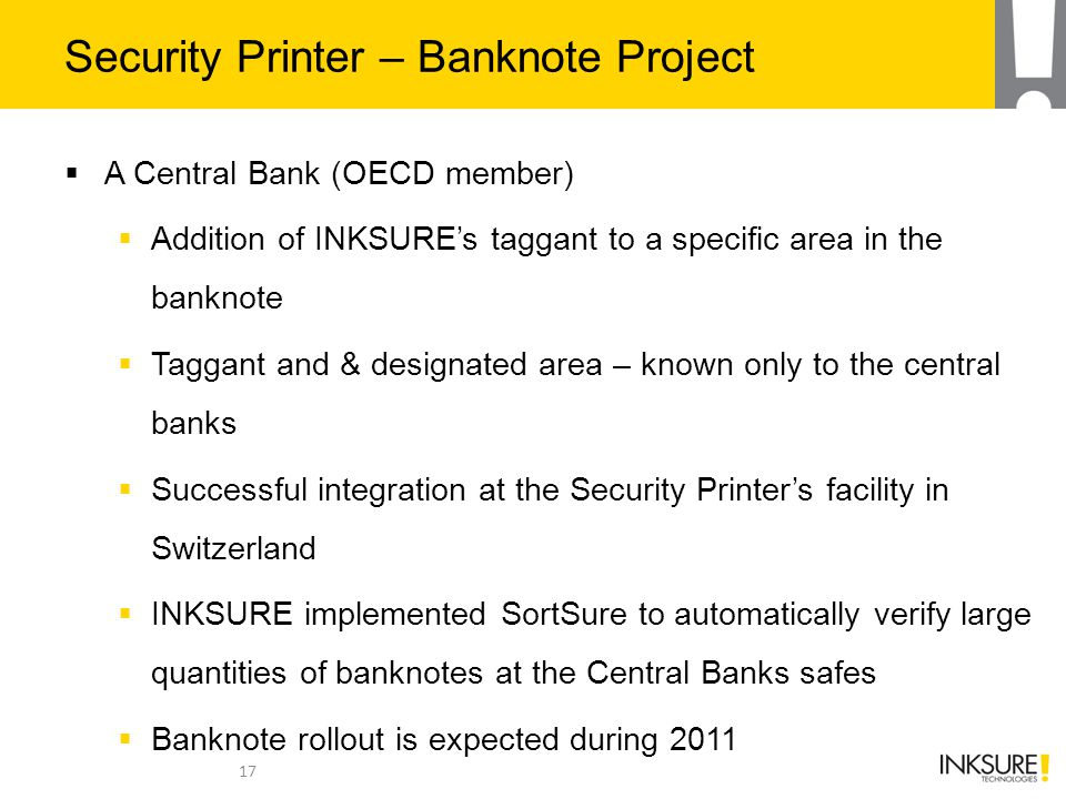 Security Printer – Banknote Project