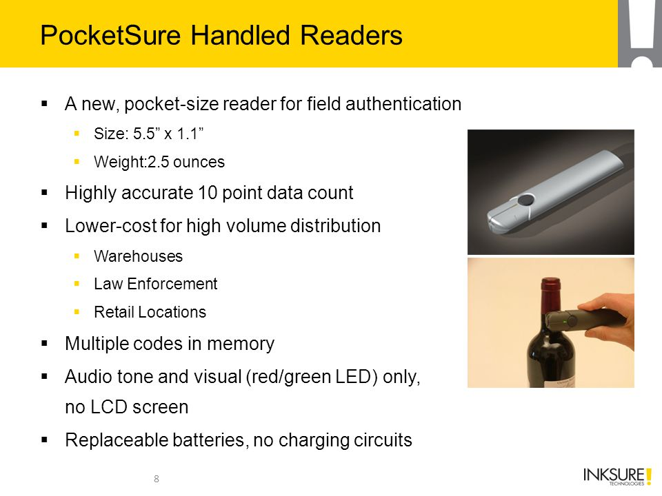 PocketSure Handled Readers