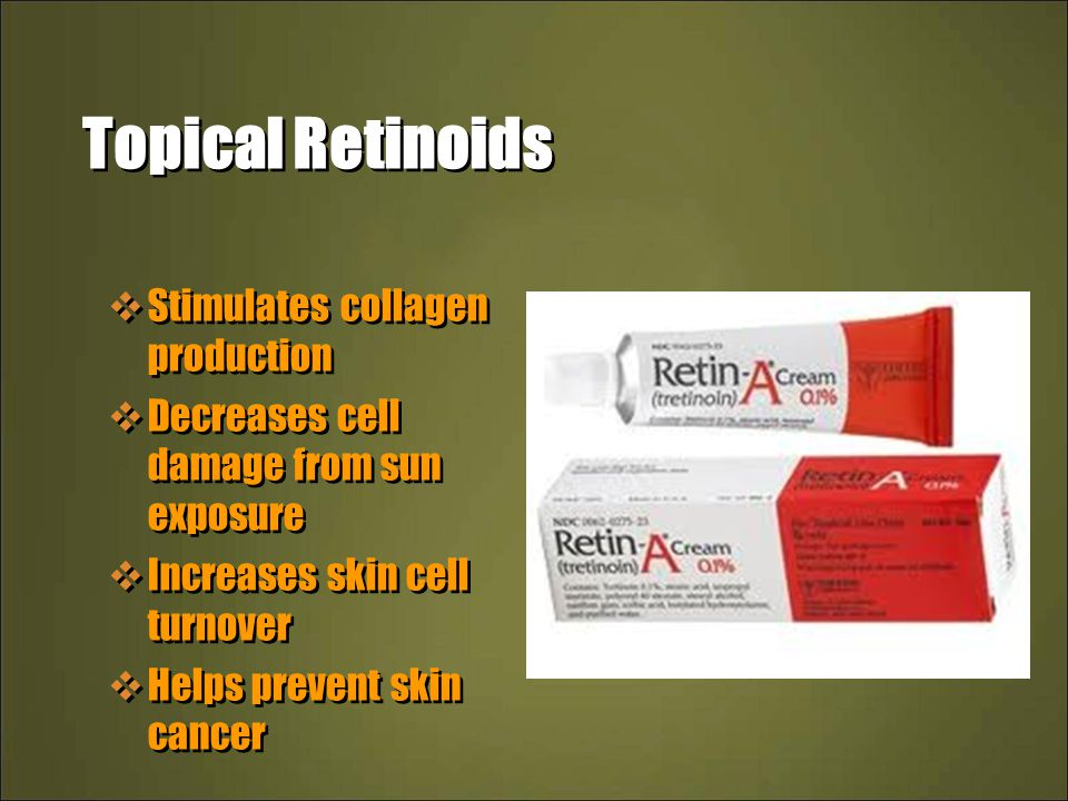 Topical Retinoids Stimulates collagen production