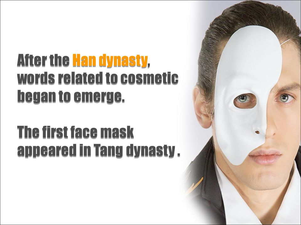 After the Han dynasty, words related to cosmetic began to emerge.