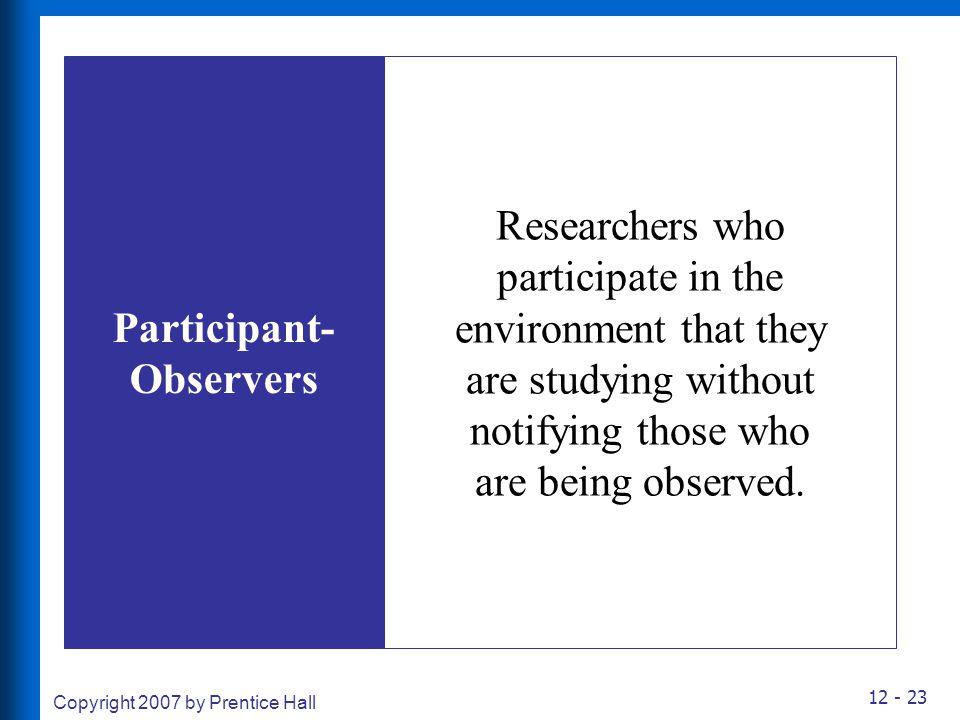 Participant-Observers