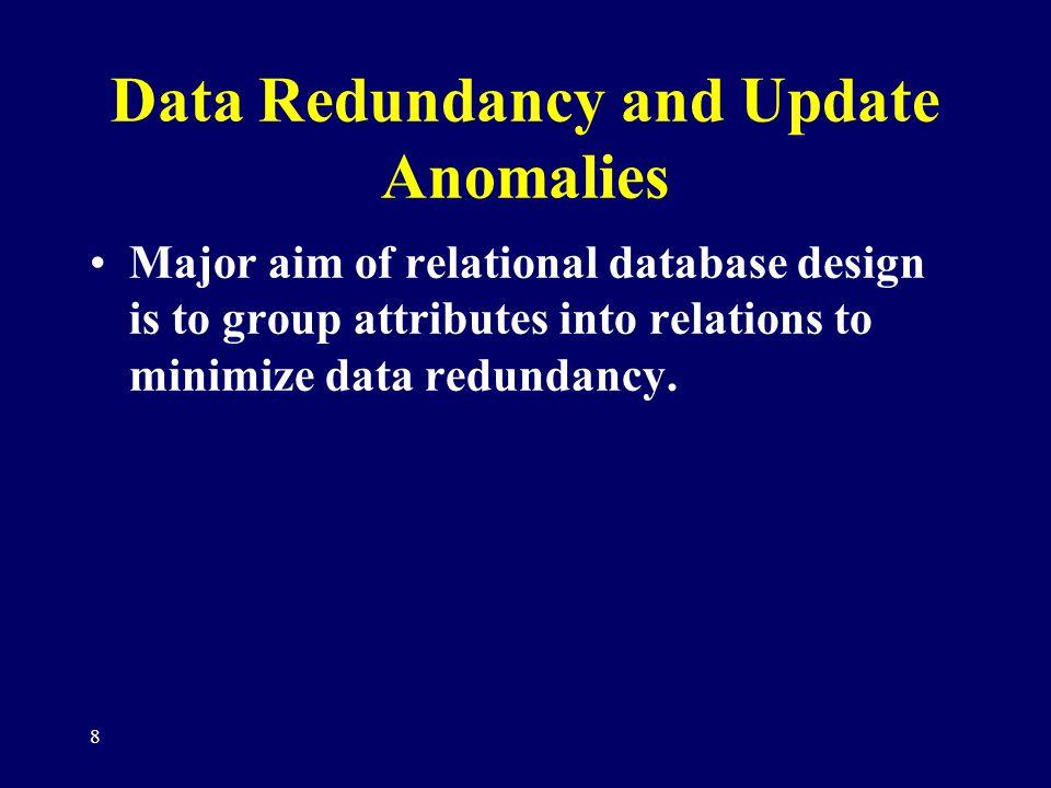 Data Redundancy and Update Anomalies