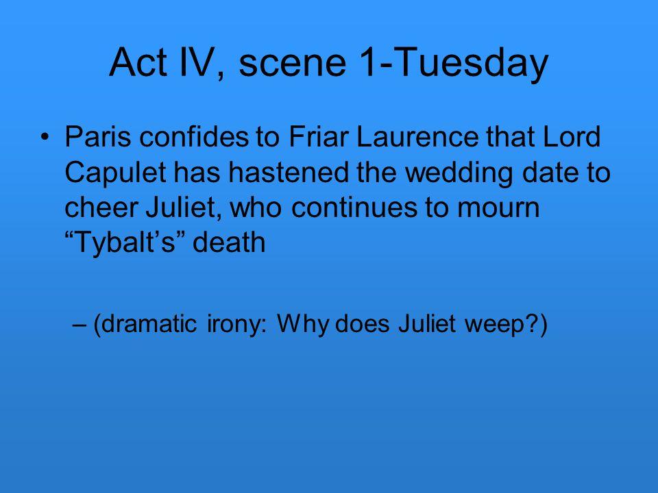 Act IV, scene 1-Tuesday