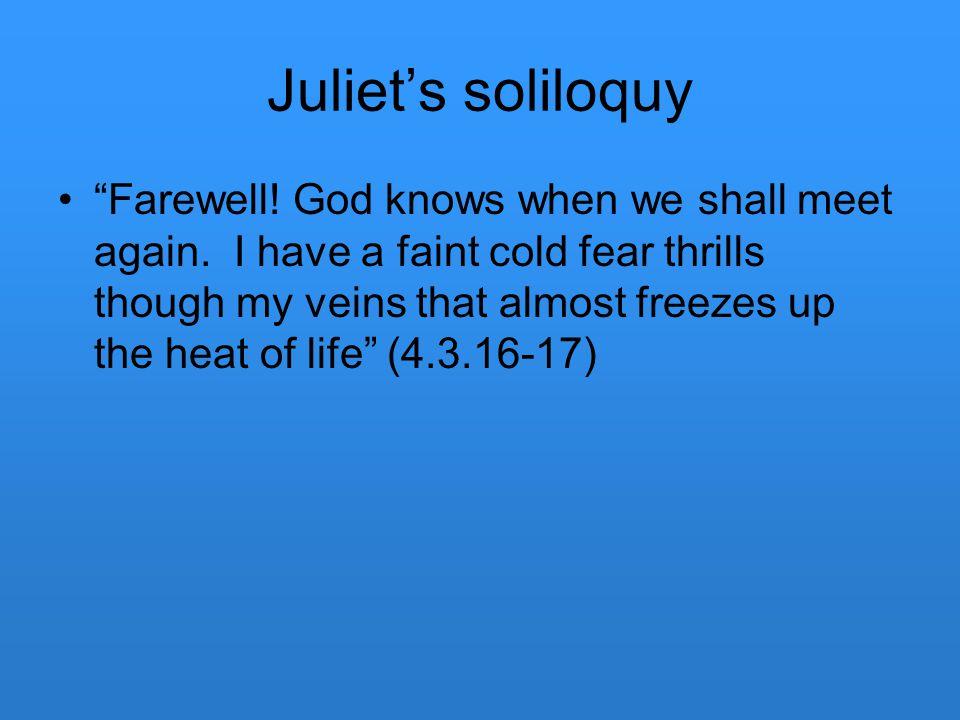 Juliet's soliloquy
