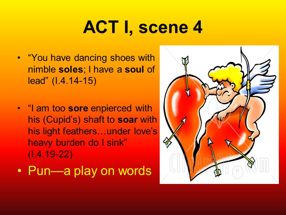 ACT I, scene 4 Pun—a play on words