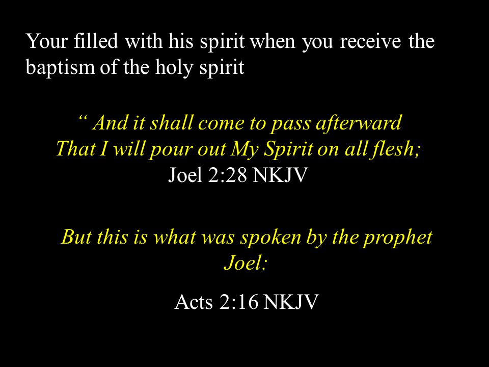 But this is what was spoken by the prophet Joel: