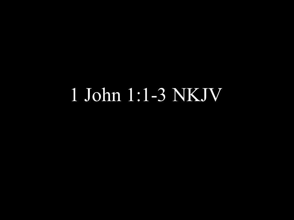 1 John 1:1-3 NKJV