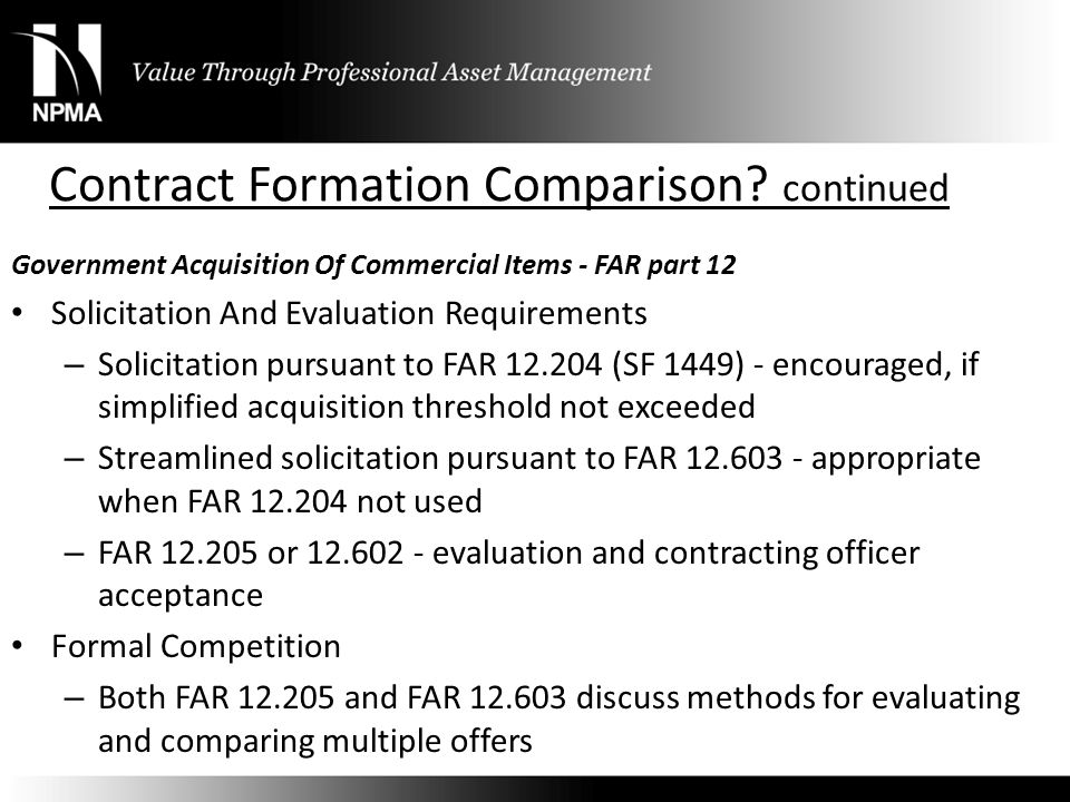 Contract Formation Comparison continued