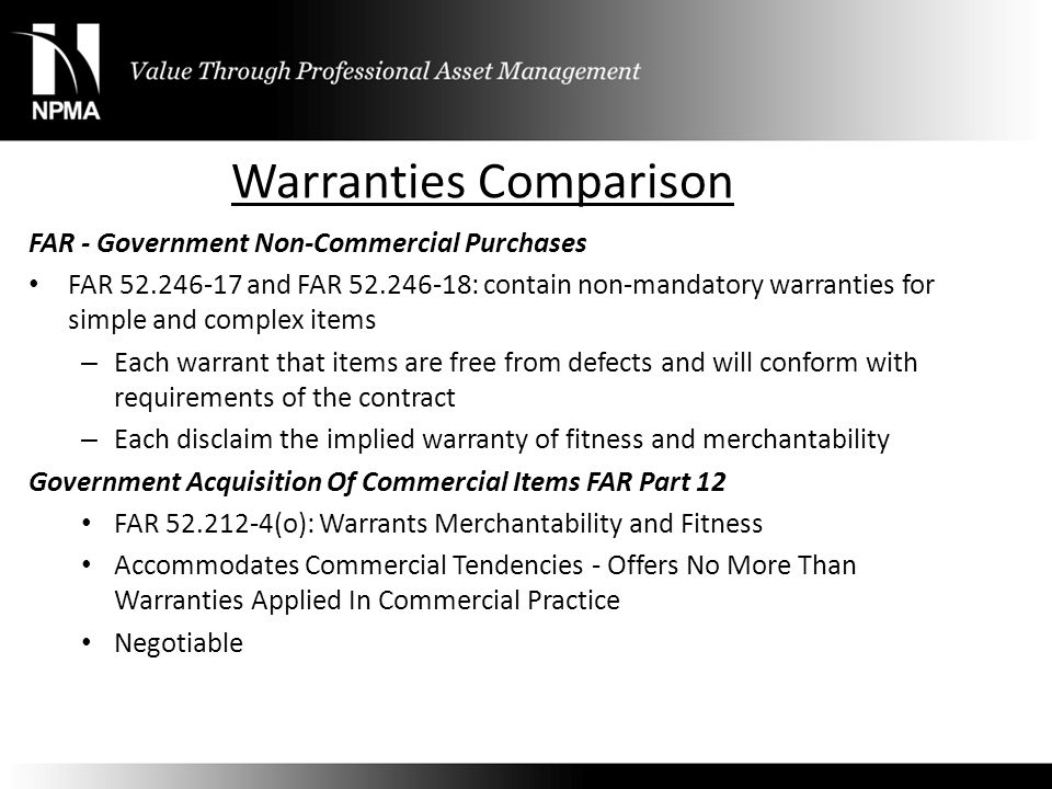 Warranties Comparison