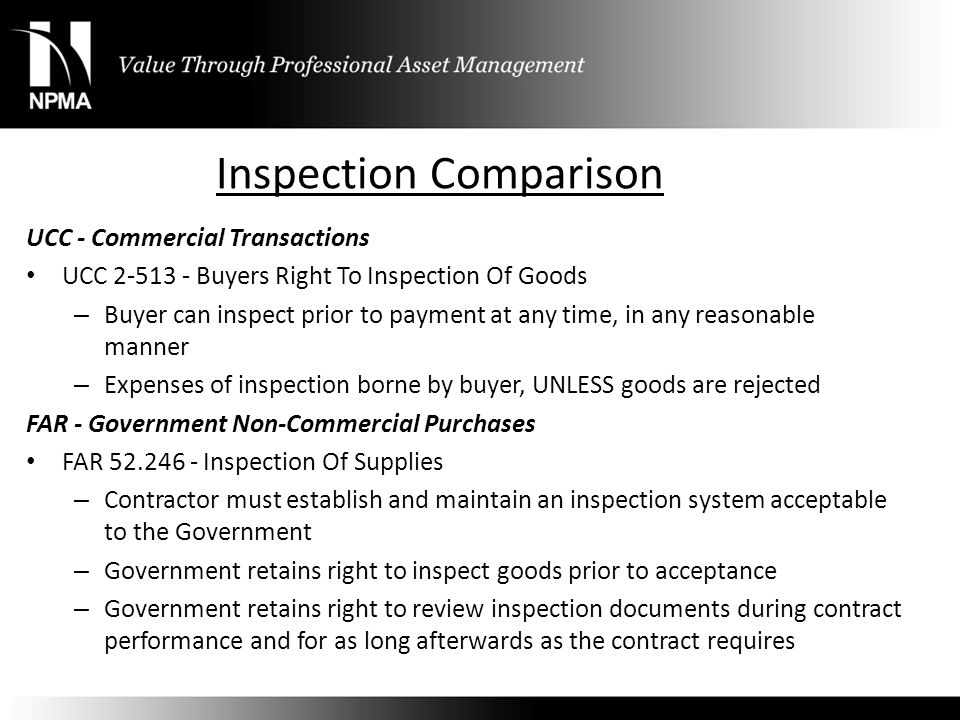 Inspection Comparison