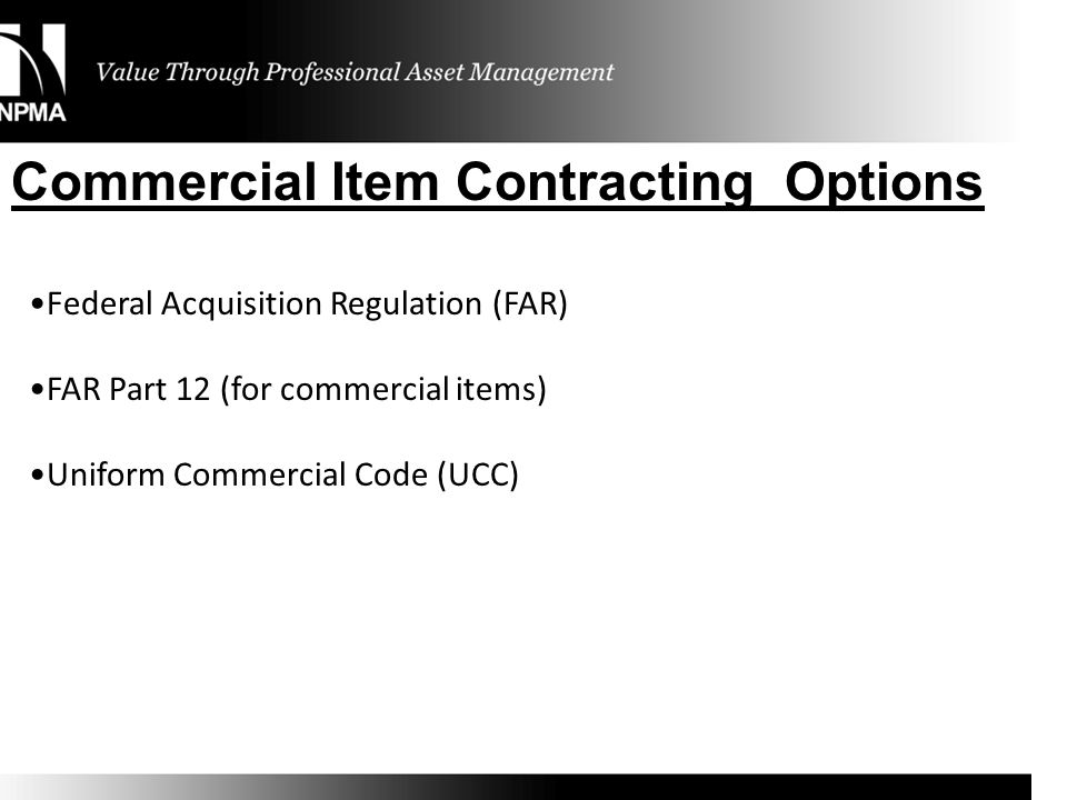 Commercial Item Contracting Options