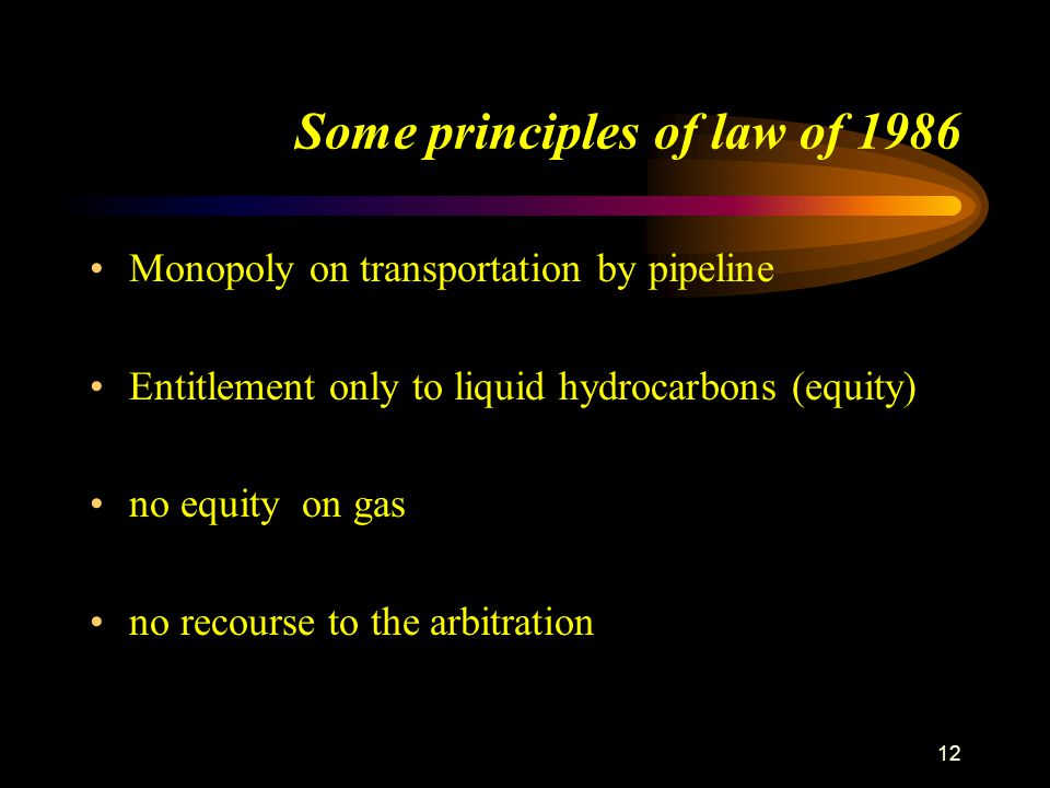 Some principles of law of 1986