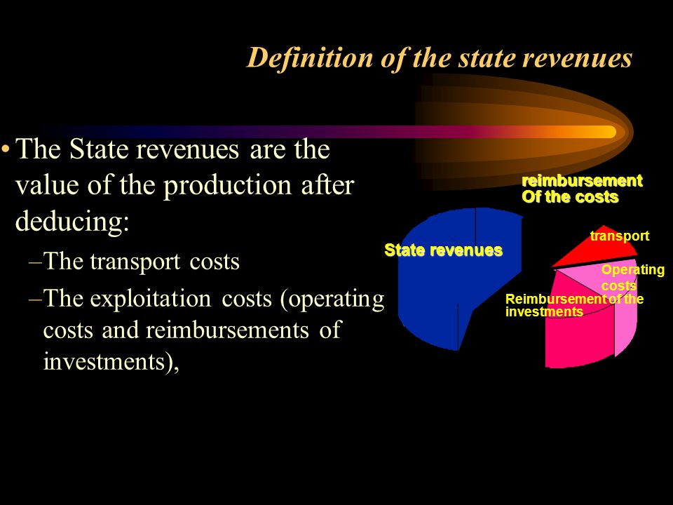 Definition of the state revenues