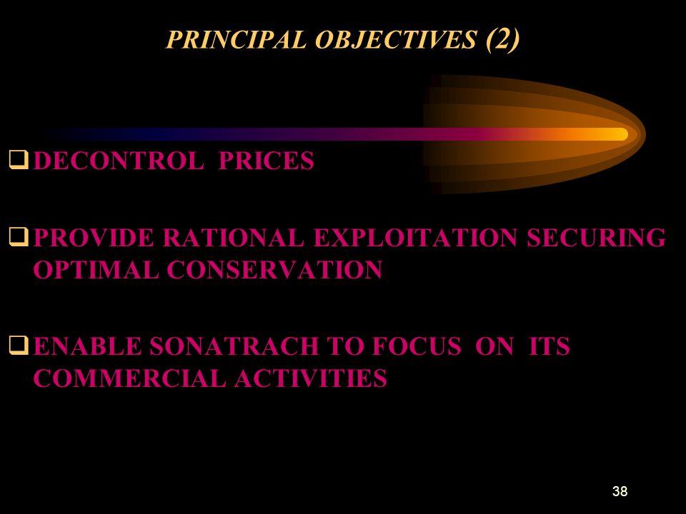 PRINCIPAL OBJECTIVES (2)