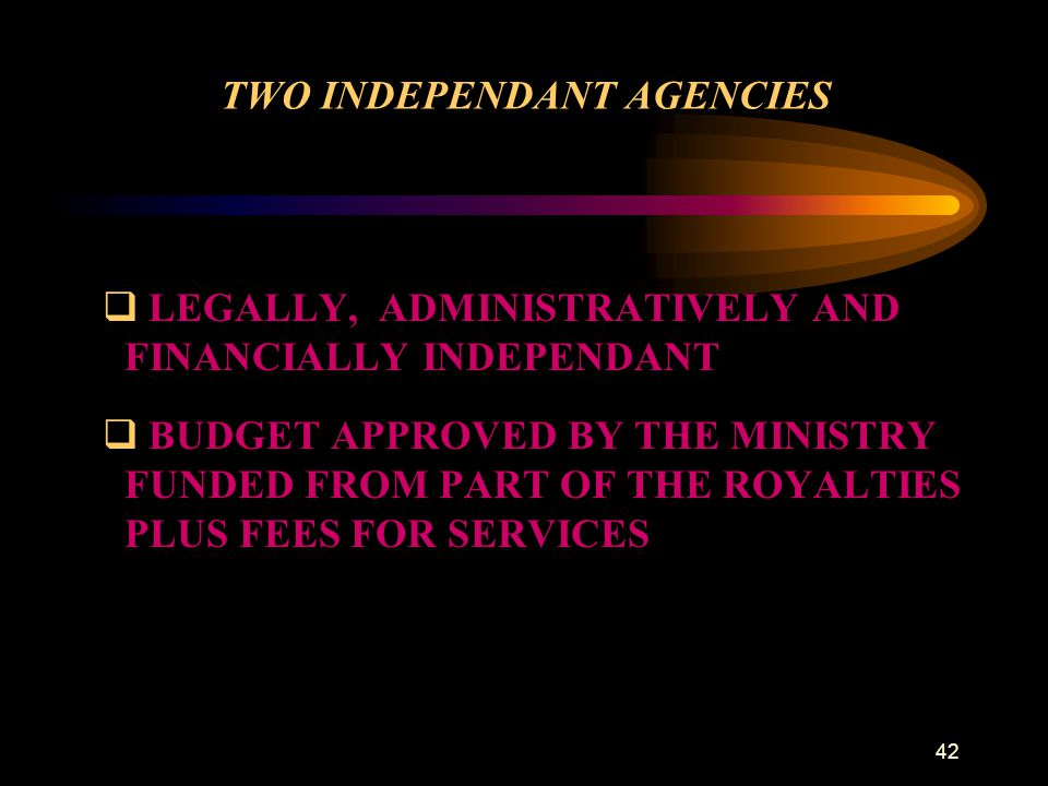 TWO INDEPENDANT AGENCIES
