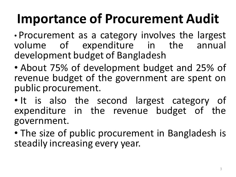 Importance of Procurement Audit