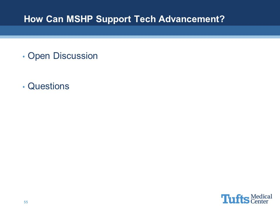 How Can MSHP Support Tech Advancement