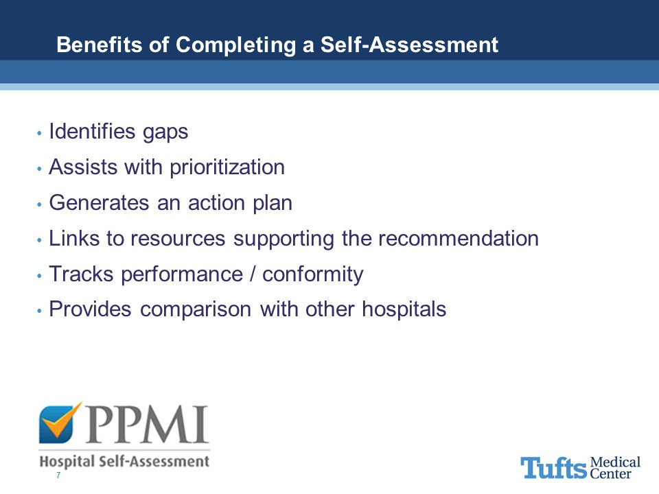 Benefits of Completing a Self-Assessment