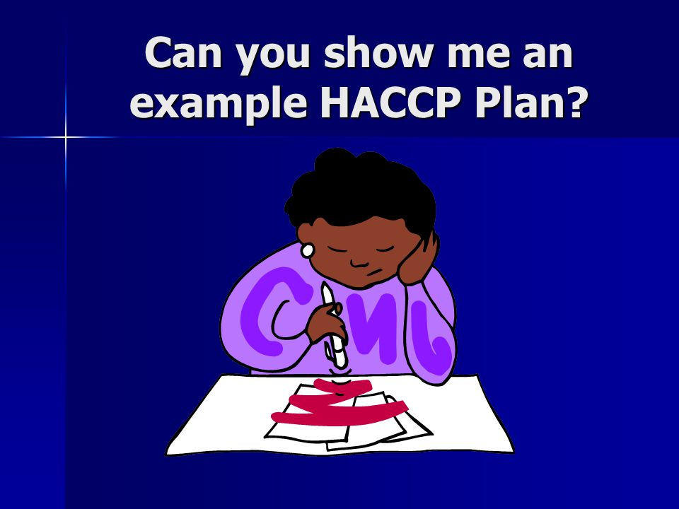 Can you show me an example HACCP Plan