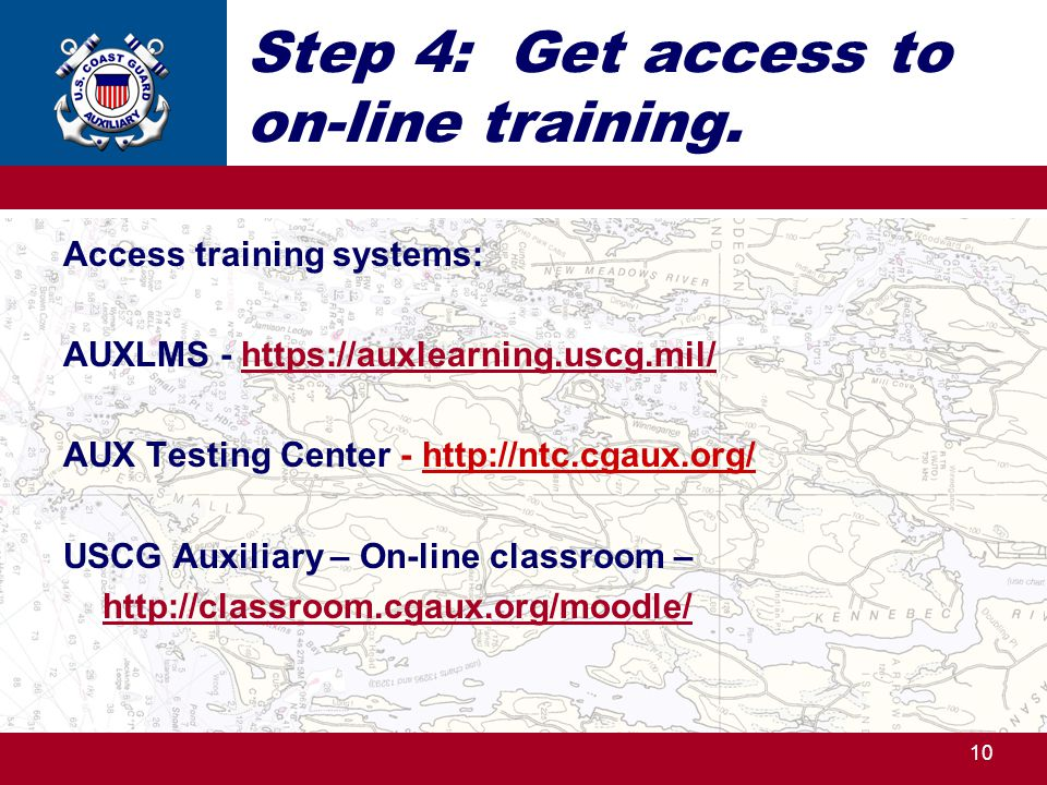 Step 4: Get access to on-line training.