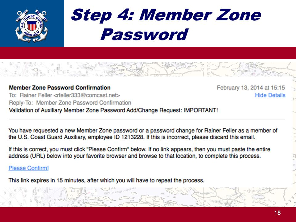 Step 4: Member Zone Password