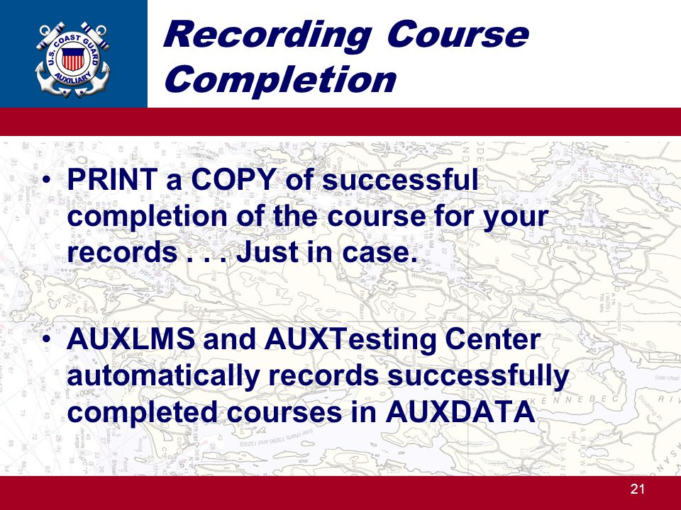 Recording Course Completion