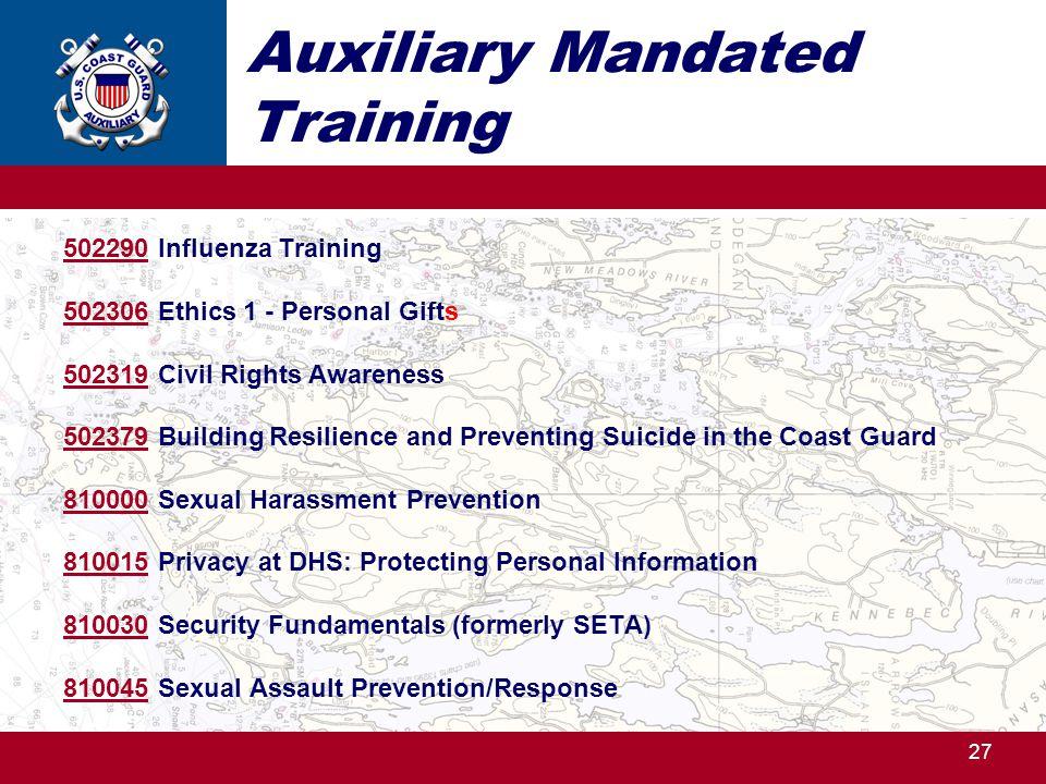 Auxiliary Mandated Training