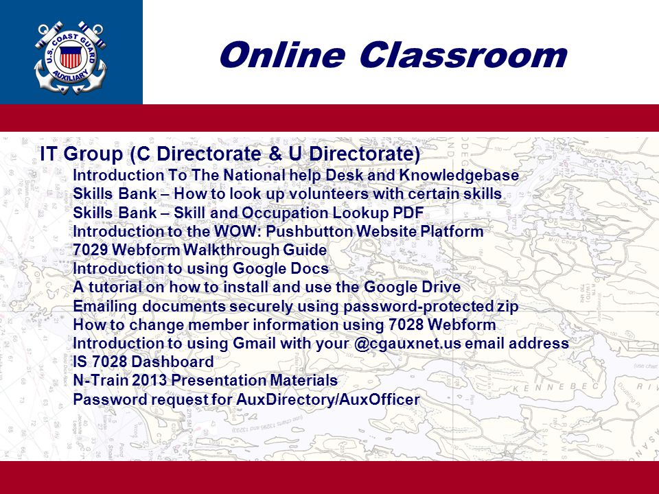 Online Classroom IT Group (C Directorate & U Directorate)