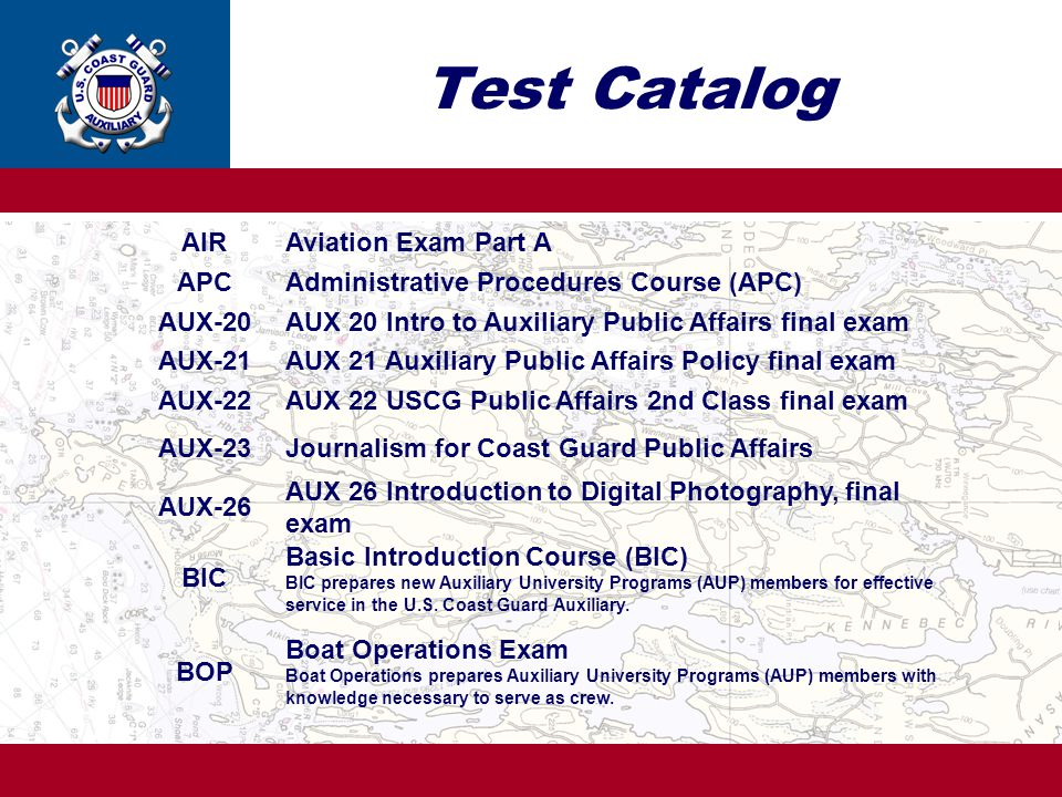 Test Catalog AIR Aviation Exam Part A APC