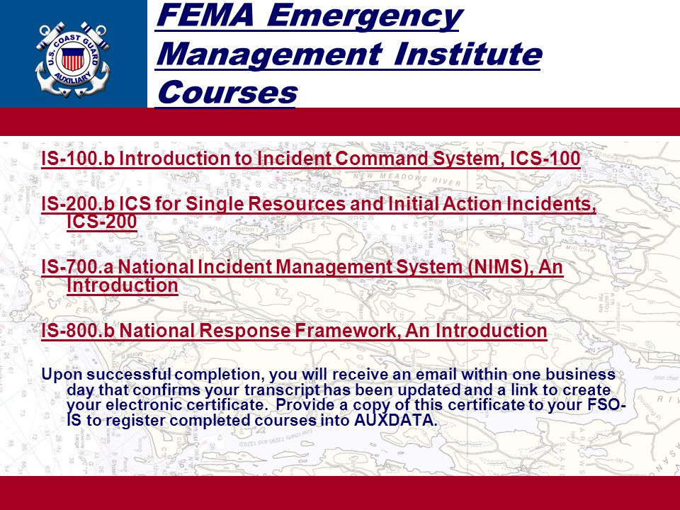 FEMA Emergency Management Institute Courses