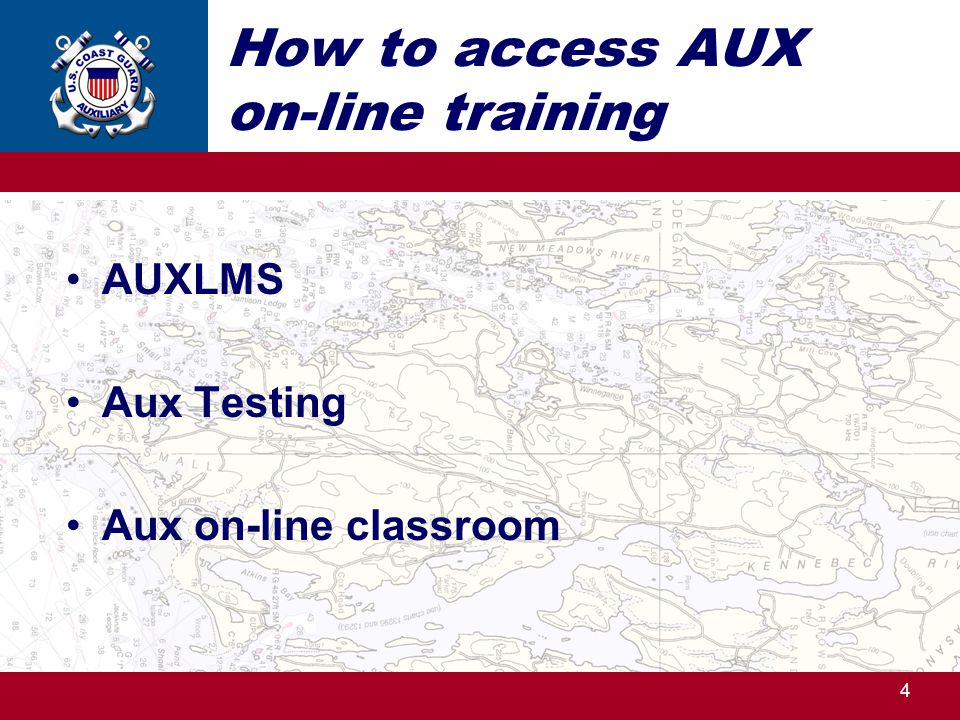 How to access AUX on-line training