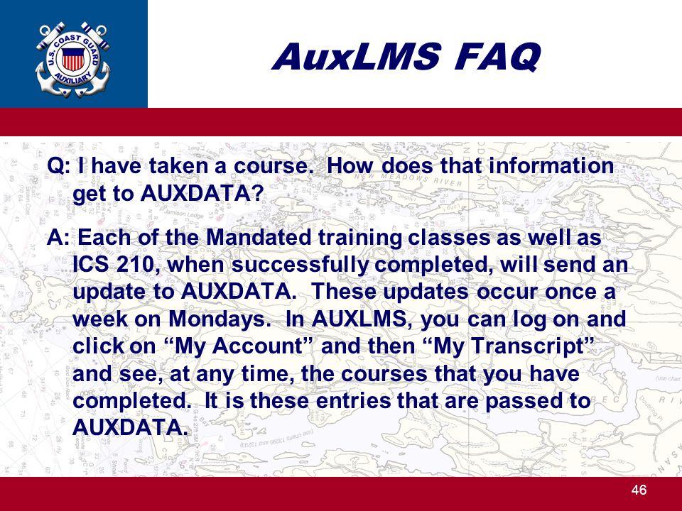 AuxLMS FAQ