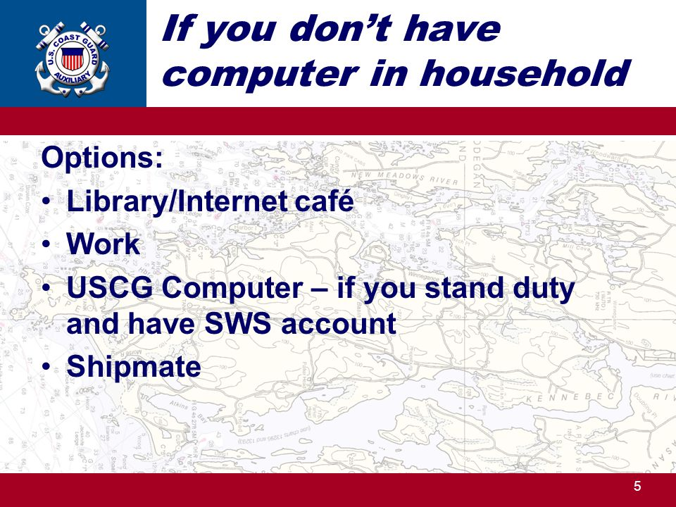 If you don't have computer in household