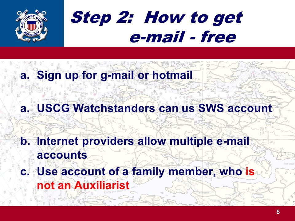 Step 2: How to get e-mail - free