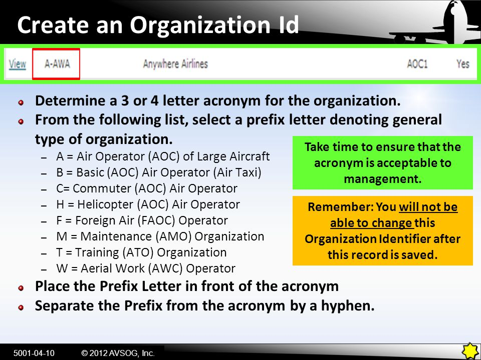 Create an Organization Id