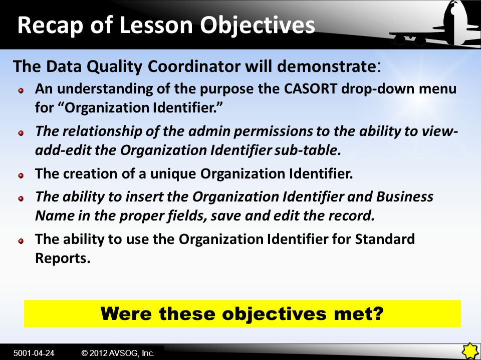 Recap of Lesson Objectives