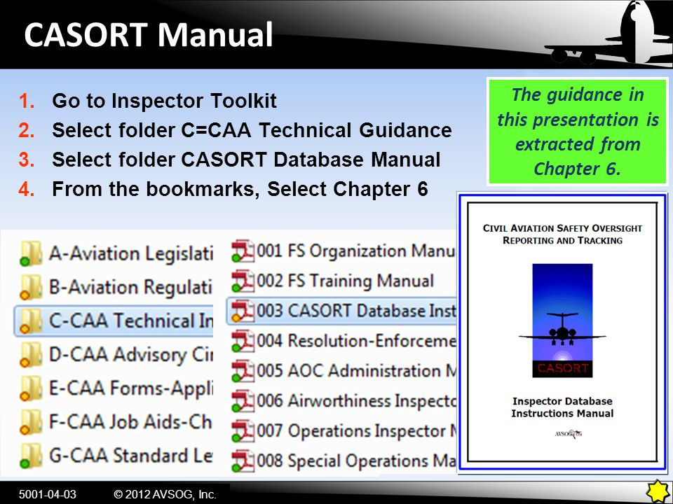 The guidance in this presentation is extracted from Chapter 6.